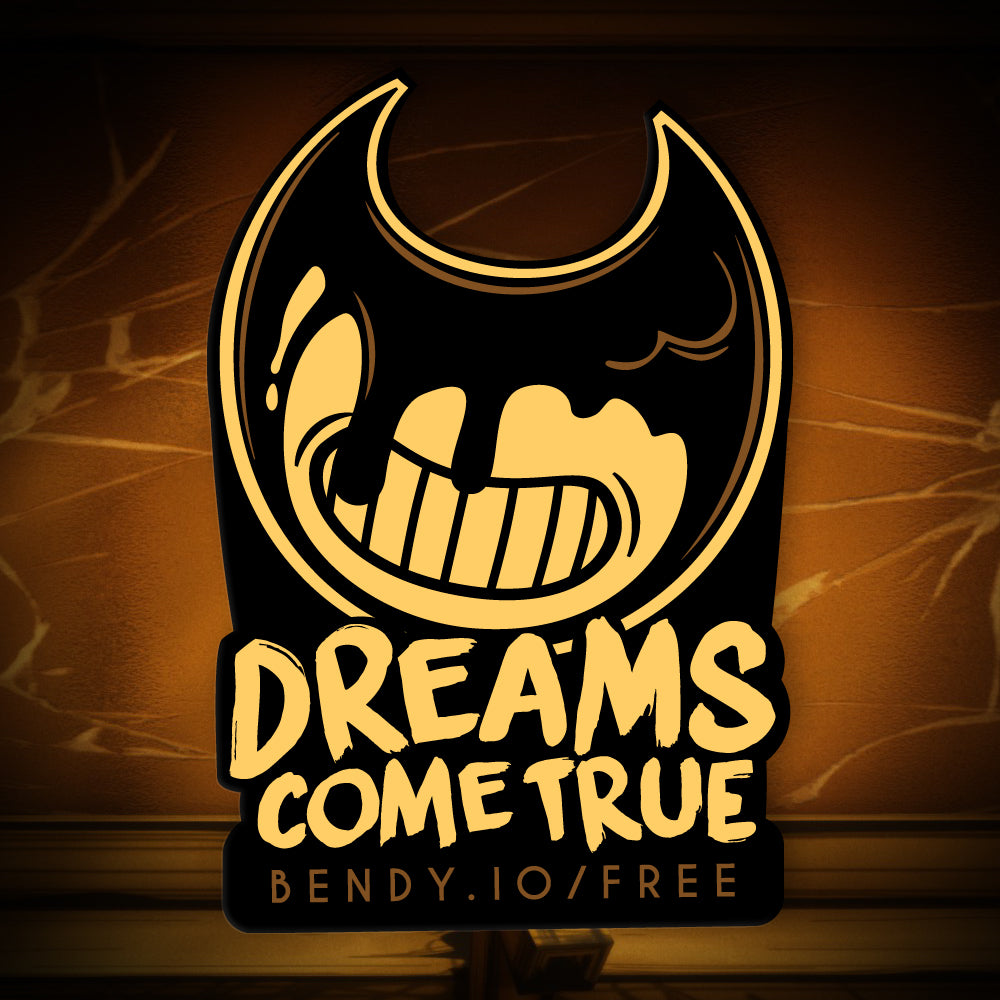 Bendy Dreams Come True Sticker Bendy And The Ink Machine