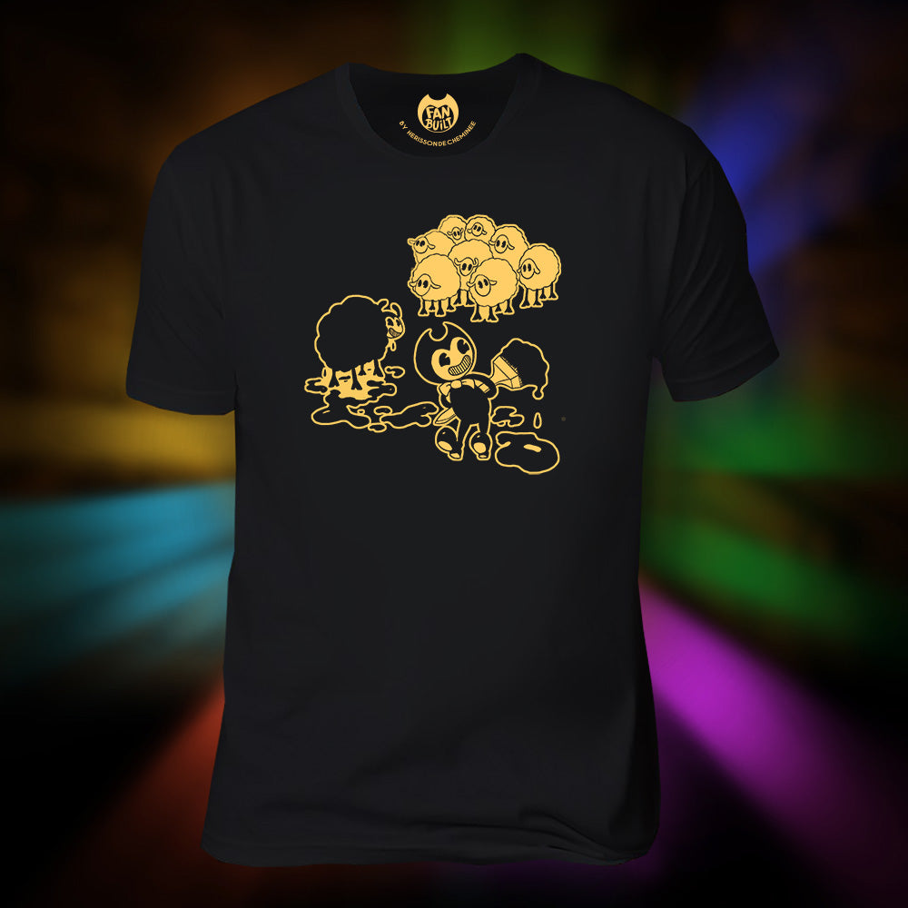 Bendy in Black Sheep T-Shirt (Fan Built)