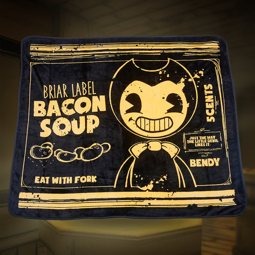 Bendy Bacon Soup Can Fleece Blanket