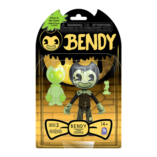 Cartoon Bendy Glow-in-the-Dark Action Figure - Dark Revival