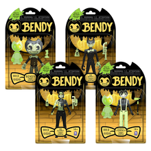 Glow-in-the-Dark Action Figures Set - Dark Revival: Cartoon Bendy, Sammy, Ink Audrey and Ink Bendy