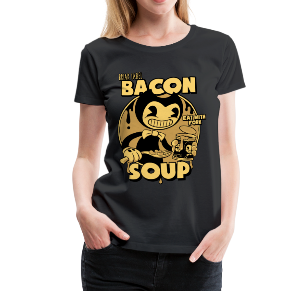 Bacon Soup T-Shirt (Womens) - black
