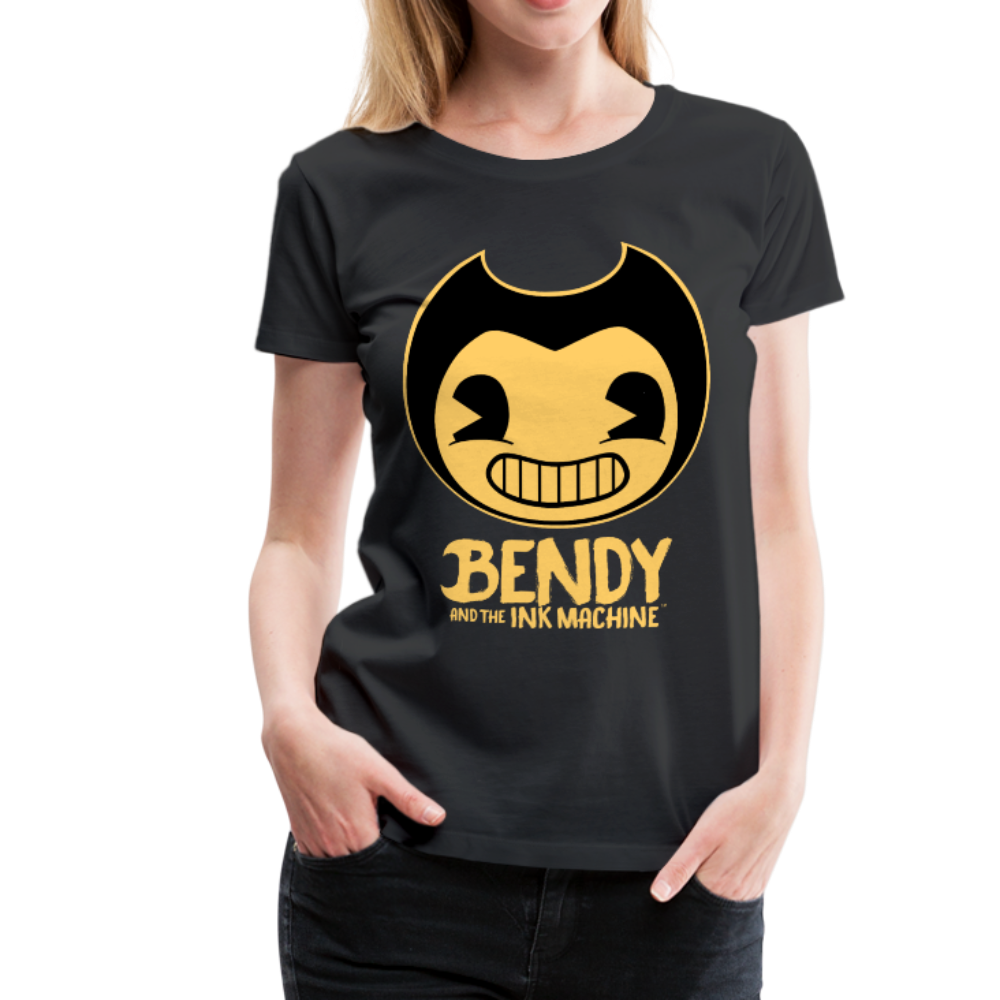 Bendy and the Ink Machine Logo T-Shirt (Womens) - black