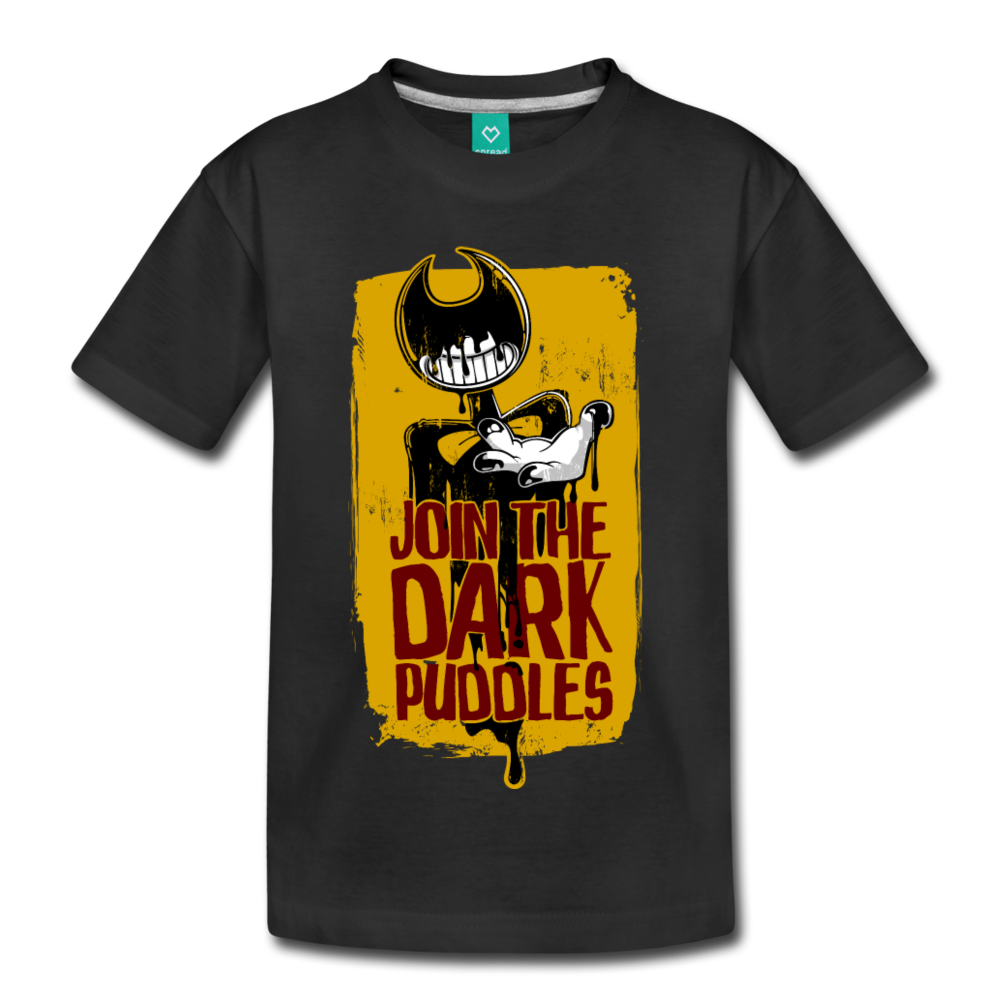 Join The Dark Puddles T-Shirt (Youth) - black