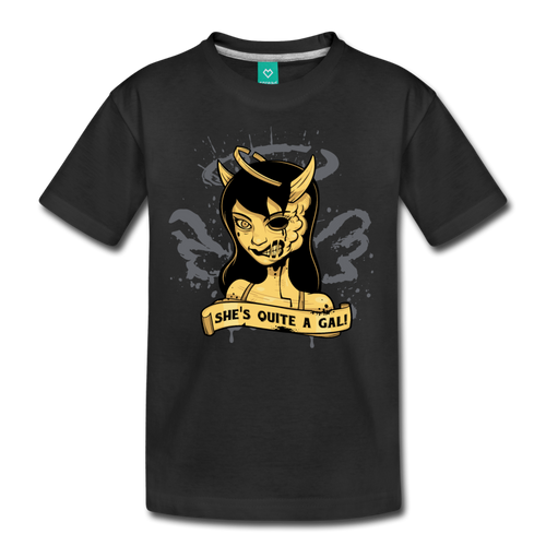 She's Quite A Gal T-Shirt (Youth) - black