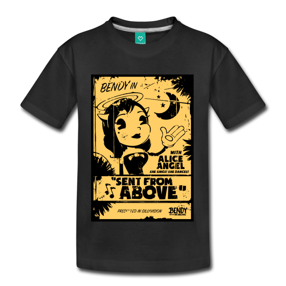 Alice Angel Sent from Above T-Shirt (Youth) - black