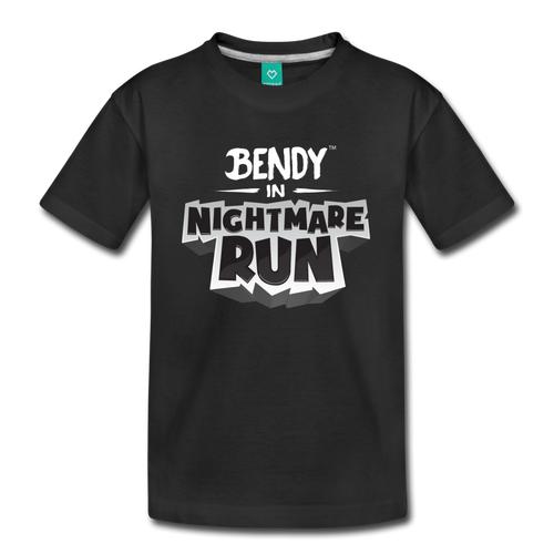 Bendy in Nightmare Run T-Shirt (Youth) - black