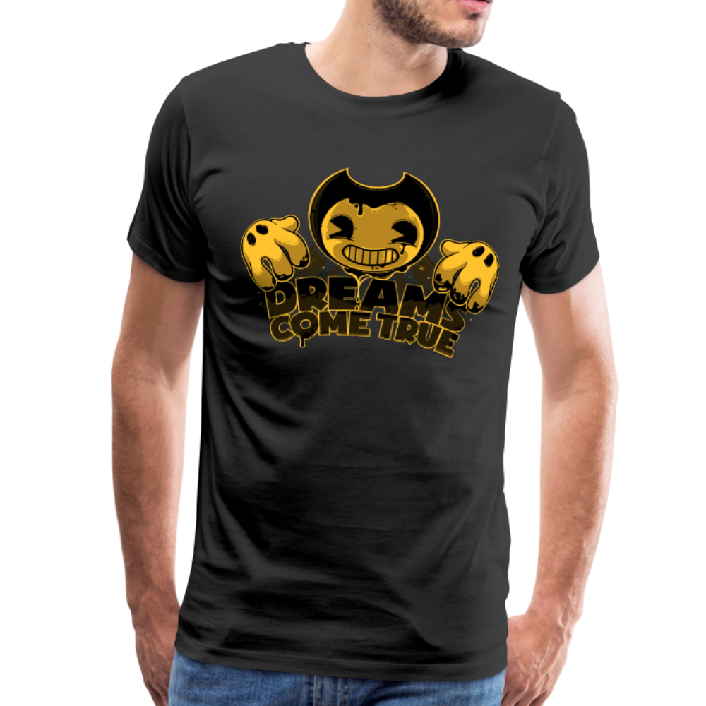 Bendy Dreams Come True T-Shirt (Mens) - black