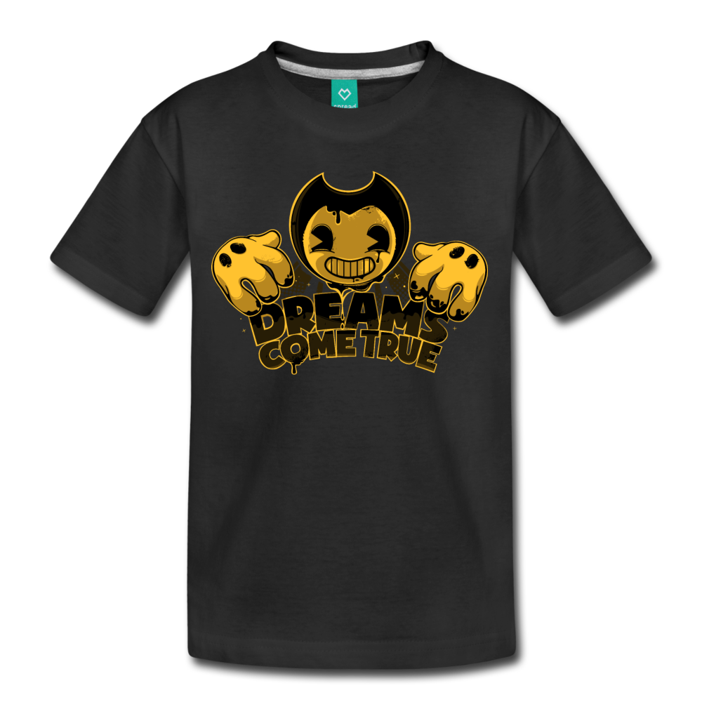 Bendy Dreams Come True T-Shirt (Youth) - black
