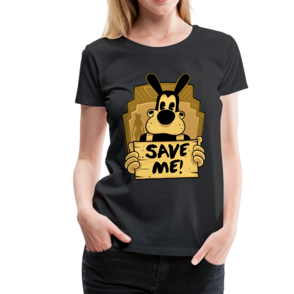 Boris the Wolf Save Me T-Shirt (Womens) - black