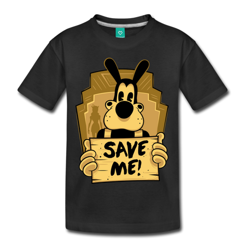 Boris the Wolf Save Me T-Shirt (Youth) - black