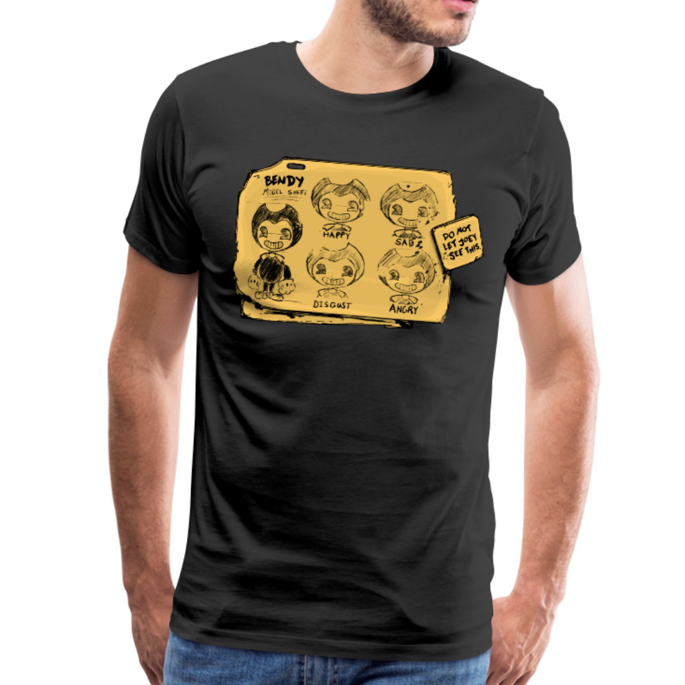 Bendy Model Sheet T-Shirt (Mens) - black