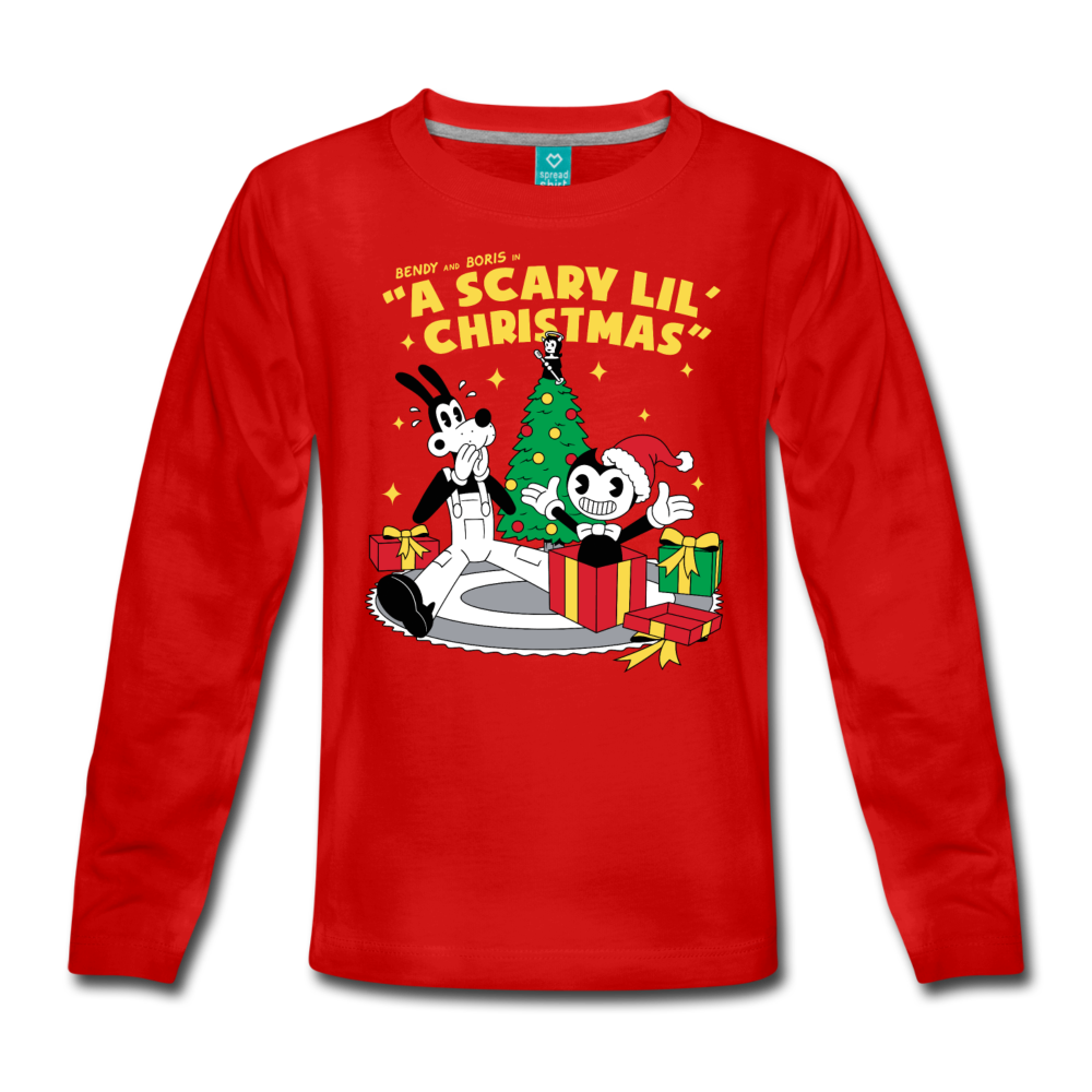 Scary Lil' Christmas T-Shirt - red