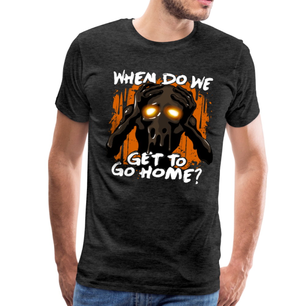 Go Home? T-Shirt (Mens) - charcoal gray