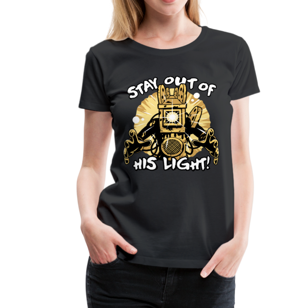 Projectionist: Stay Out Of His Light! T-Shirt (Womens) - black