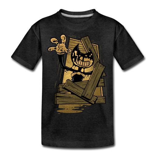 Jump Scare T-Shirt - charcoal gray