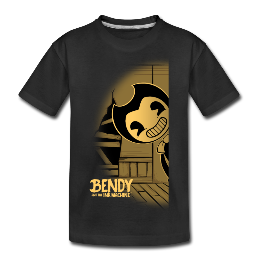 Peeking Bendy T-Shirt - black