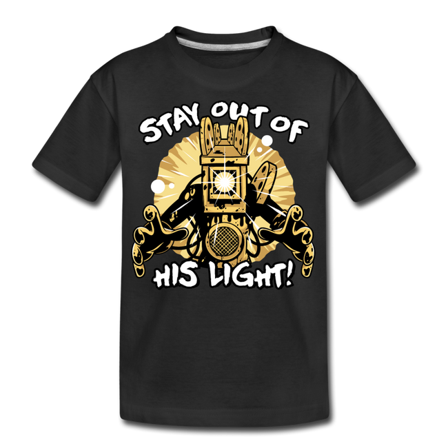 Projectionist: Stay Out Of His Light! T-Shirt - black