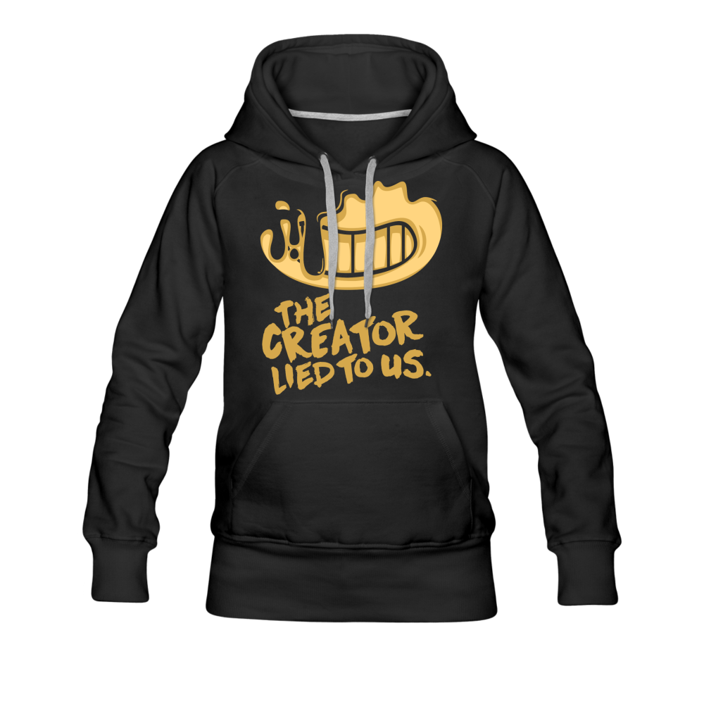 The Creator Lied to Us Hoodie (Womens) - black