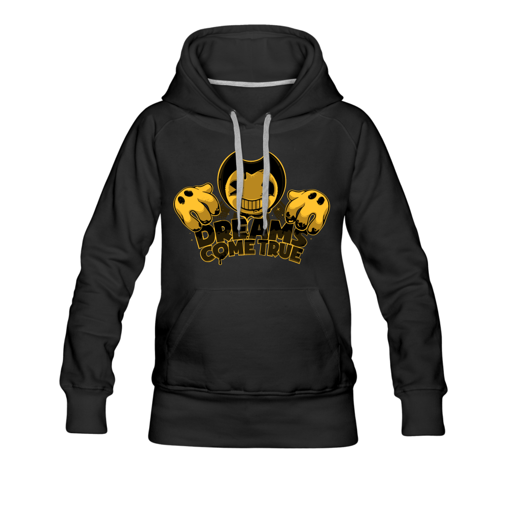 Bendy Dreams Come True Hoodie (Womens) - black