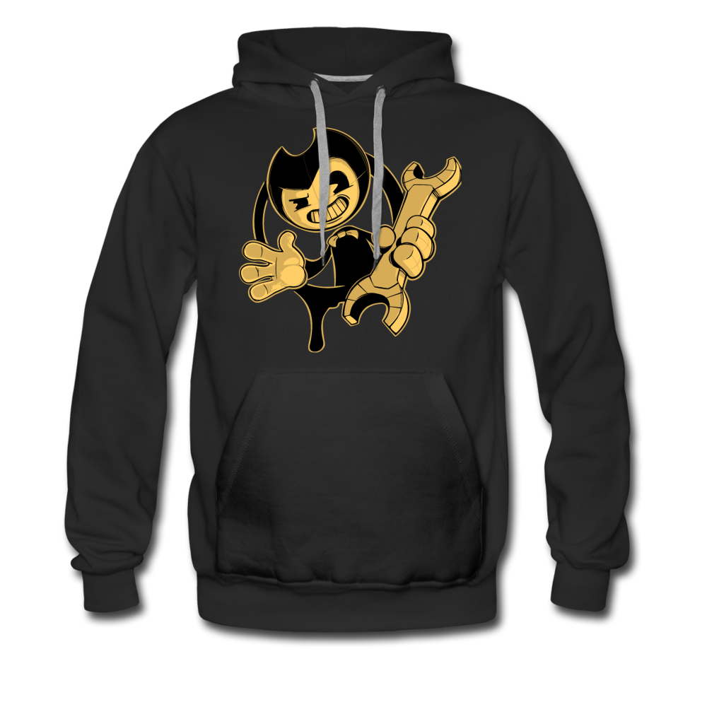 Bendy Wrench Hoodie (Mens) - black