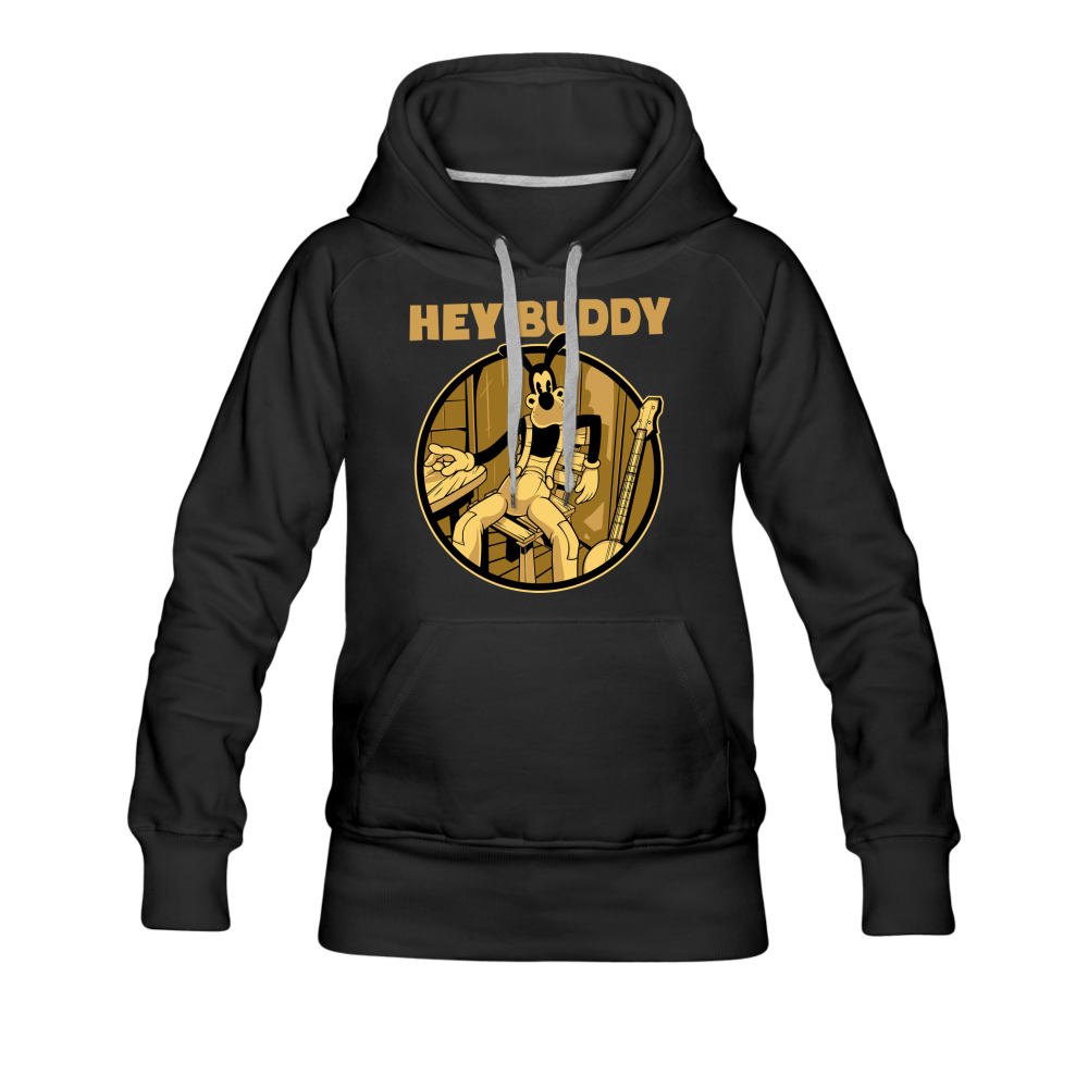 Boris the Wolf - Hey Buddy Hoodie (Womens) - black