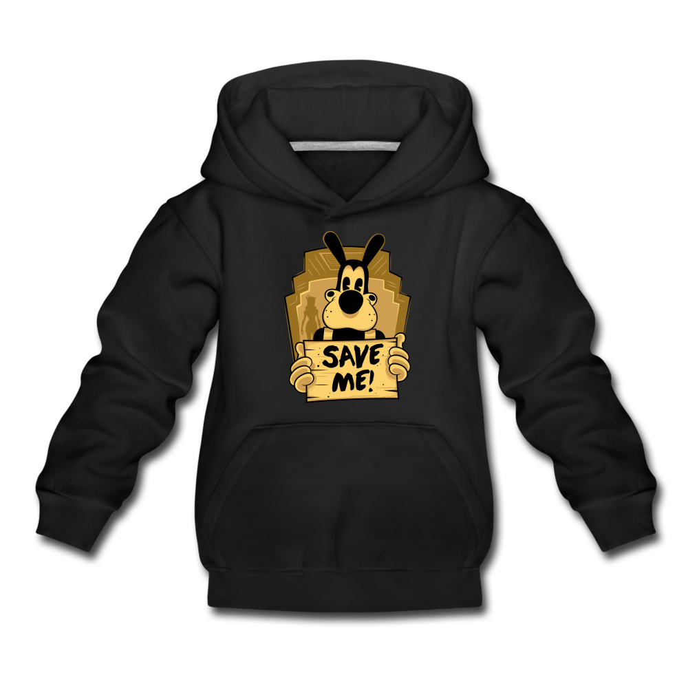 Boris the Wolf Save Me Hoodie (Youth) - black
