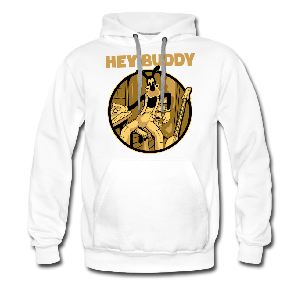 Boris the Wolf - Hey Buddy Hoodie (Mens) - white