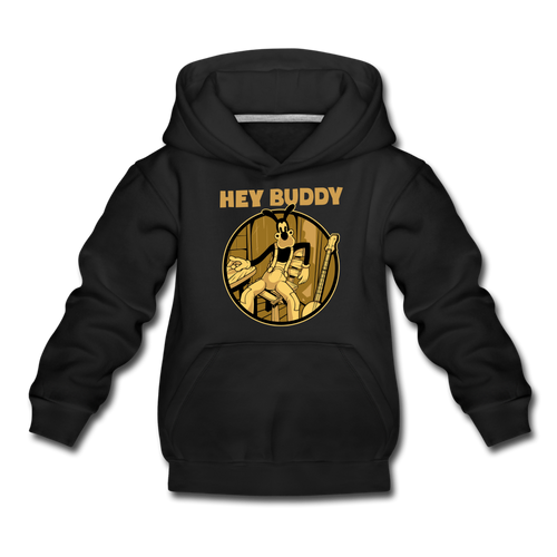 Boris the Wolf - Hey Buddy Hoodie (Youth) - black