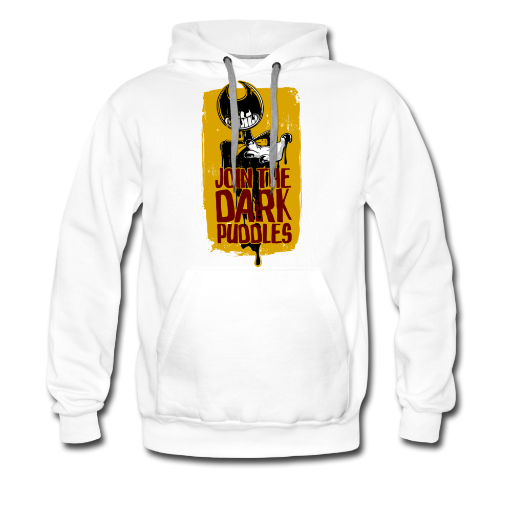 Join The Dark Puddles Hoodie (Mens) - white