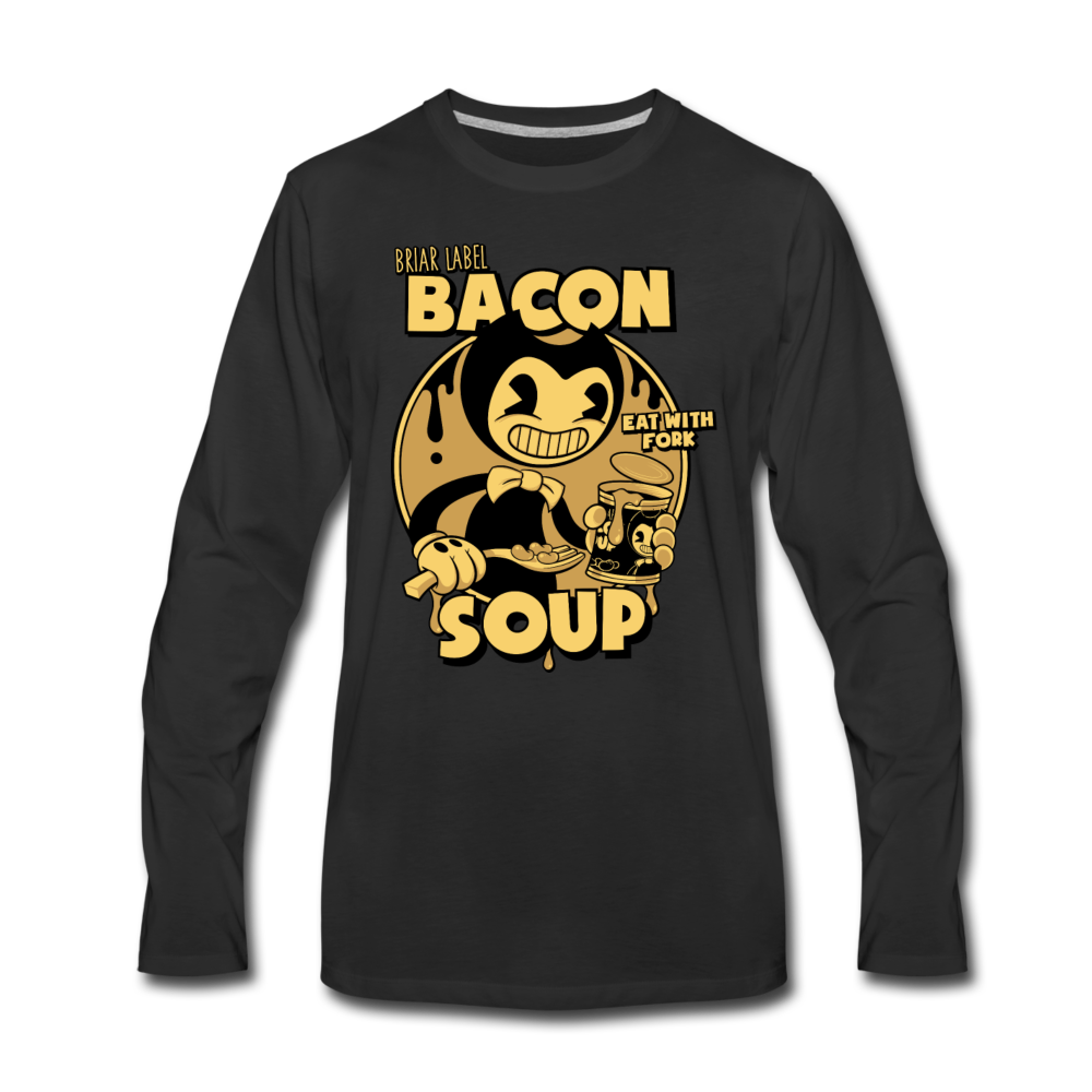 Bacon Soup Long Sleeve T-Shirt (Mens) - black