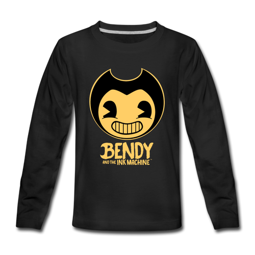 Bendy and the Ink Machine Logo Long Sleeve T-Shirt (Youth) - black