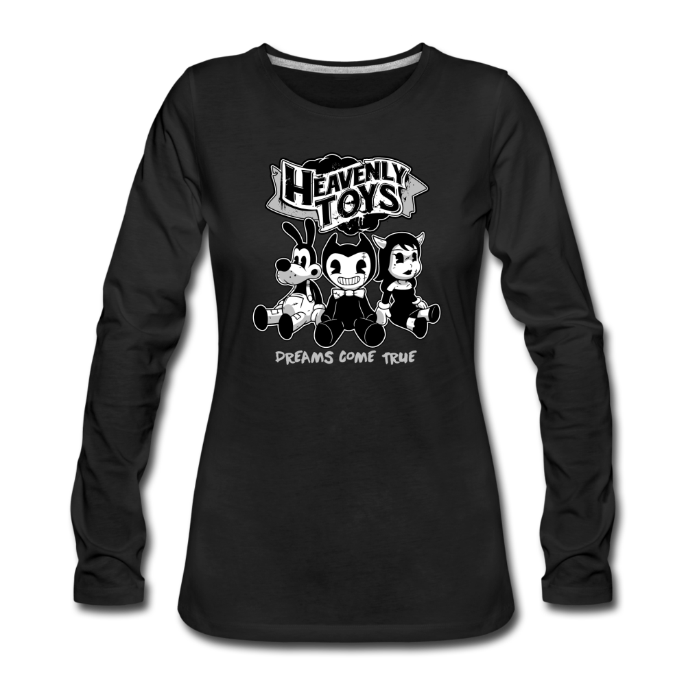 Heavenly Toys Long Sleeve T-Shirt (Womens) - black