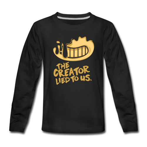 The Creator Lied to Us Long Sleeve T-Shirt (Youth) - black
