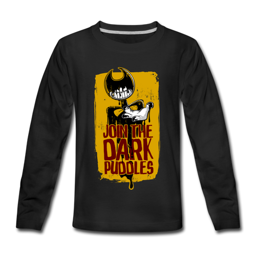 Join The Dark Puddles Long Sleeve T-Shirt (Youth) - black