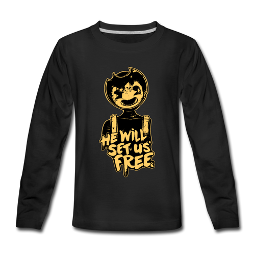 Sammy Lawrence Long Sleeve T-Shirt (Youth) - black