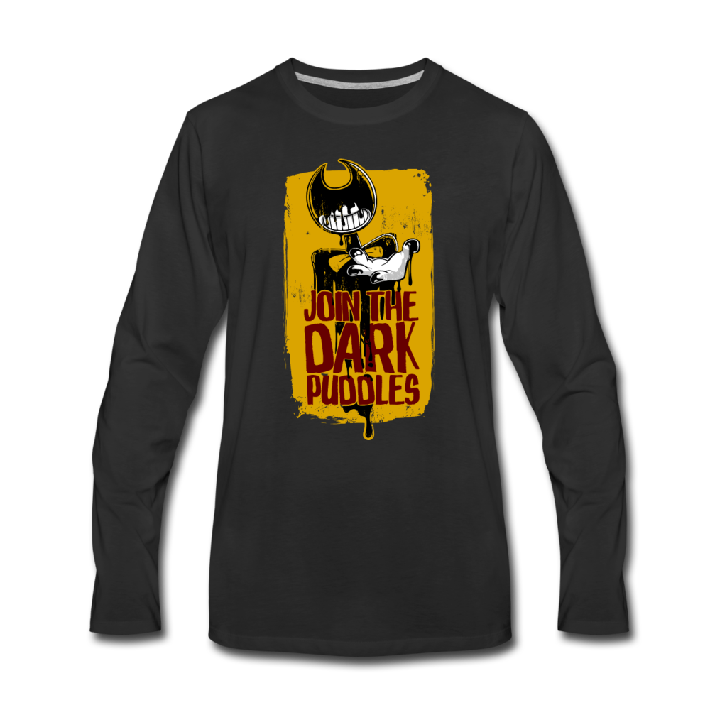 Join The Dark Puddles Long Sleeve T-Shirt (Mens) - black
