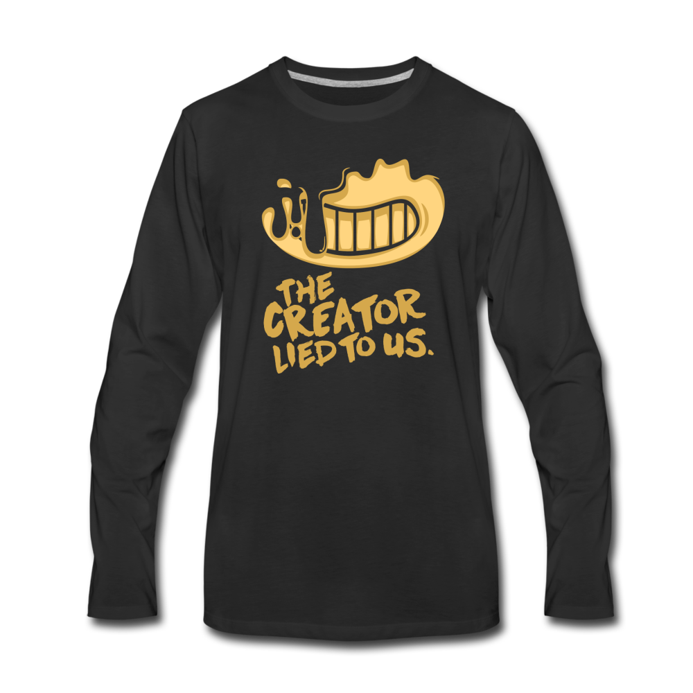 The Creator Lied to Us Long Sleeve T-Shirt (Mens) - black