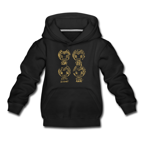 Bendy Moods Hoodie (Youth) - black
