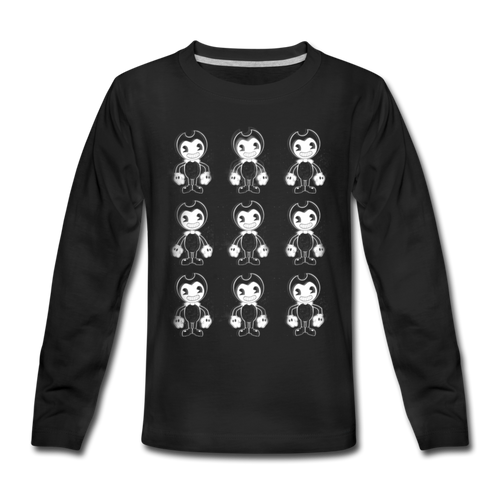 Dancing Bendy Long Sleeve T-Shirt (Youth) - black