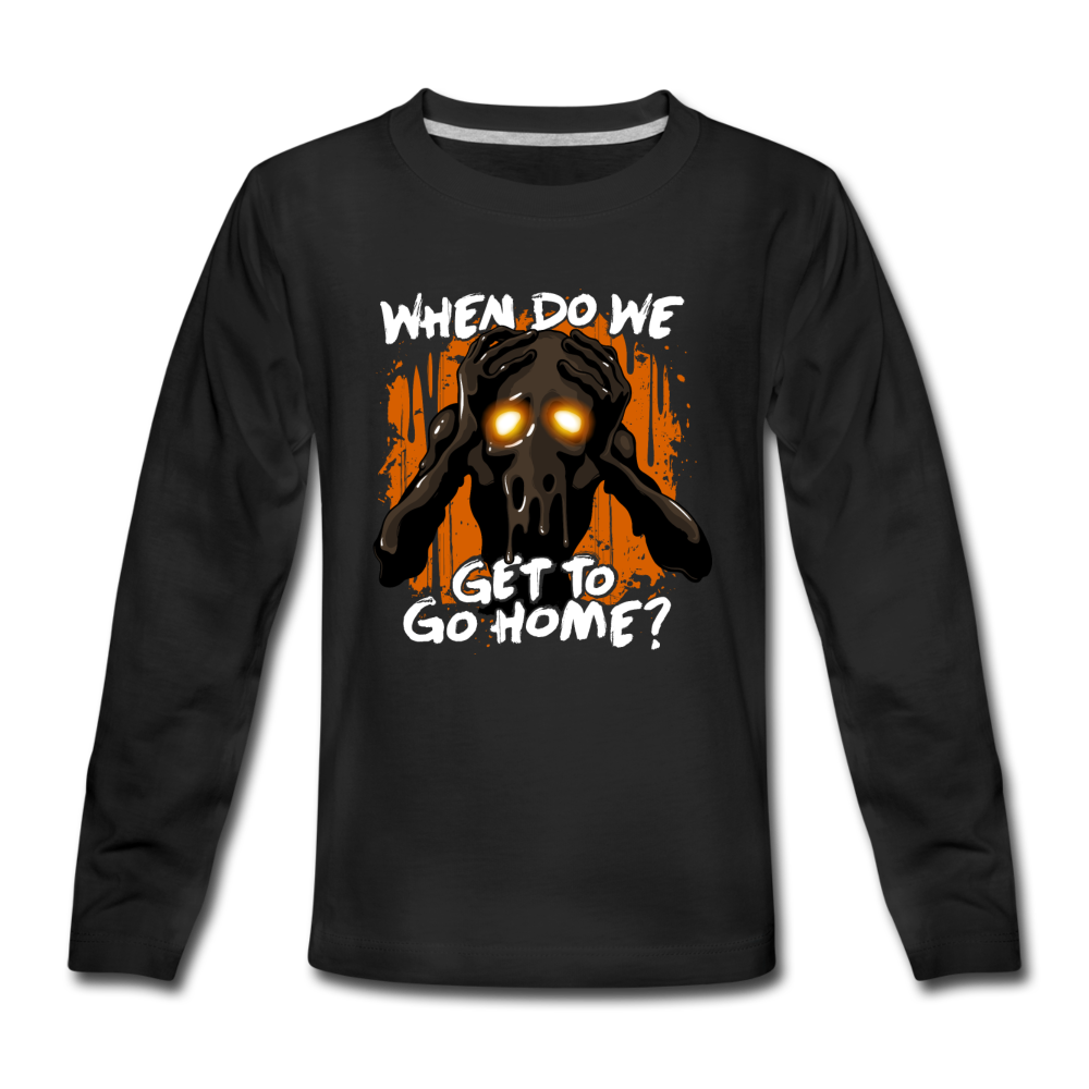 Go Home? Long Sleeve T-Shirt (Youth) - black