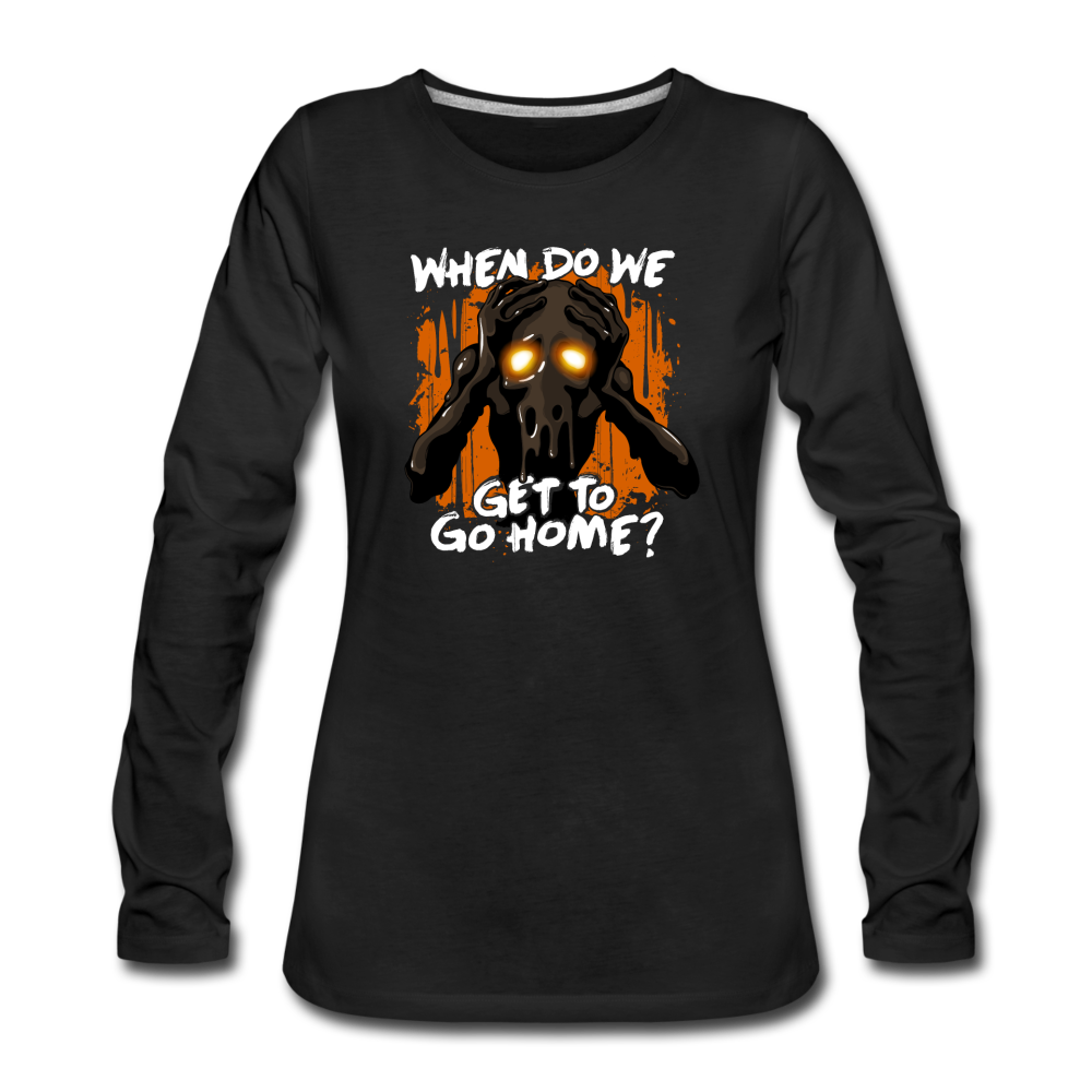 Go Home? Long Sleeve T-Shirt (Women) - black