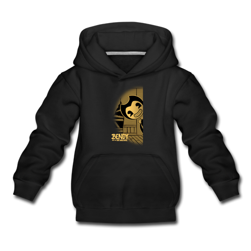 Peeking Bendy Hoodie (Youth) - black