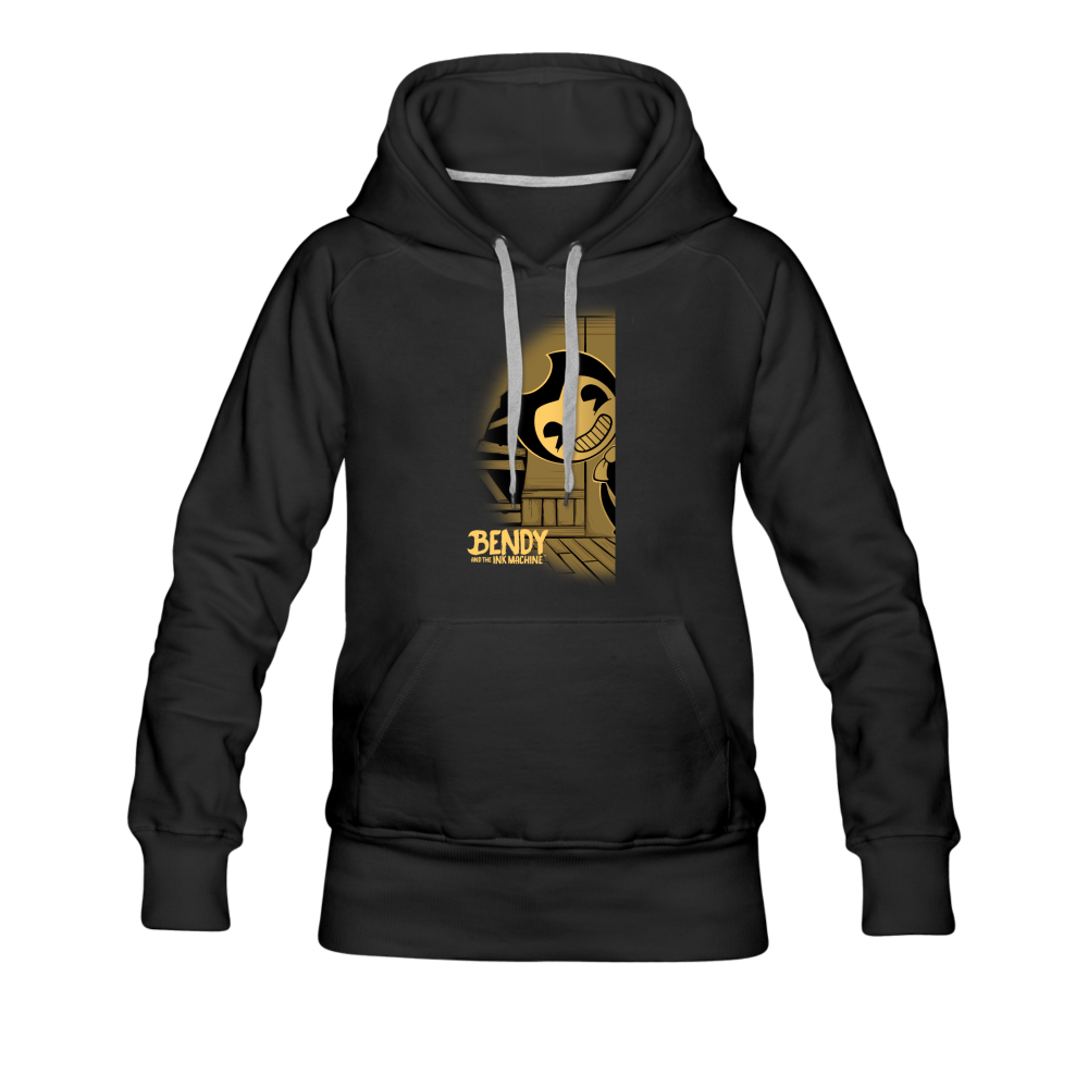 Peeking Bendy Hoodie (Womens) - black