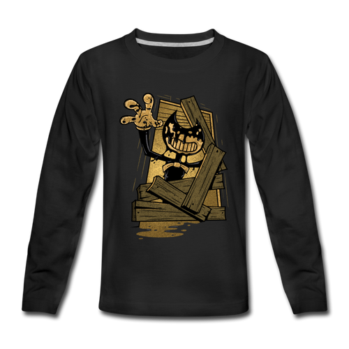 Jump Scare Long Sleeve T-Shirt (Youth) - black
