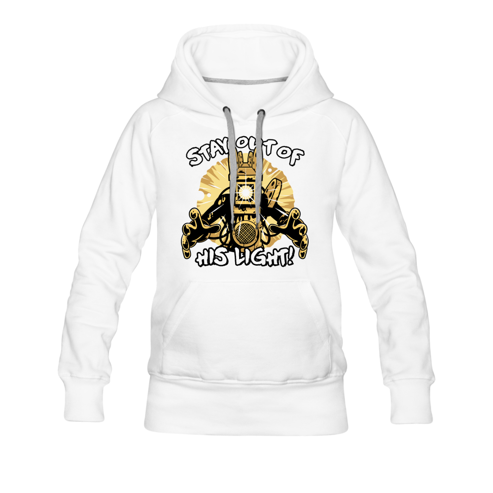 Projectionist: Stay Out Of His Light! Hoodie (Womens) - white