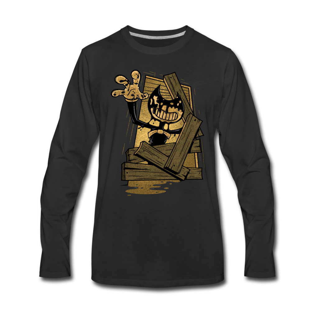 Jump Scare Long Sleeve T-Shirt (Mens) - black