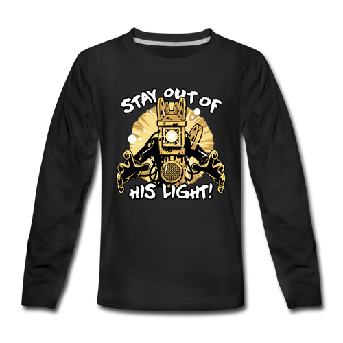 Projectionist: Stay Out Of His Light! Long Sleeve T-Shirt (Youth) - black
