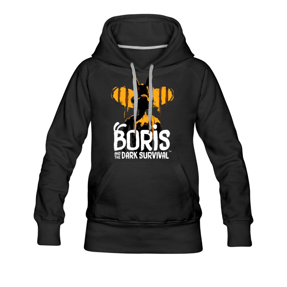 Boris and the Dark Survival - BATDS Title Hoodie (Womens) - black