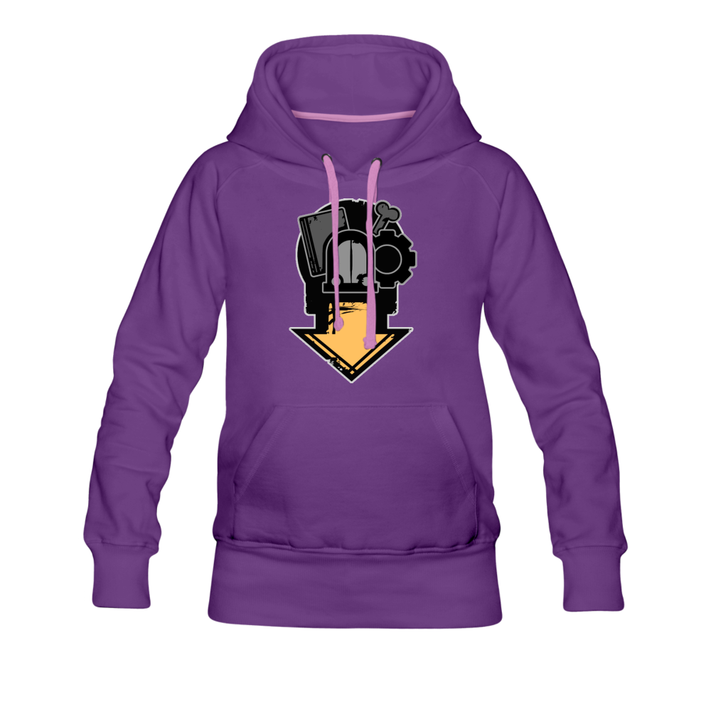 Boris and the Dark Survival - Scavenger Hoodie (Womens) - purple
